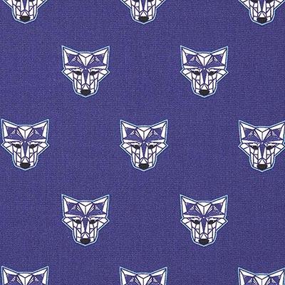Katoenen stof Wilde wolf 1 – navy
