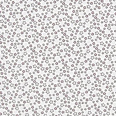 Katoenen stof Sterrenparade 4 – wit