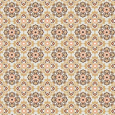 Tela de algodón Adorno floral 5 – marrón