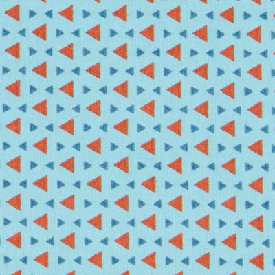 Fijnrib Driehoek 3 – blauw
