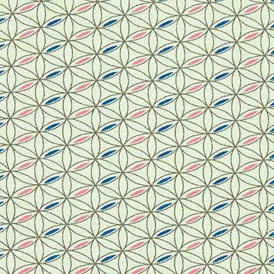 Jersey de algodón Espirógrafo 1 – verde menta
