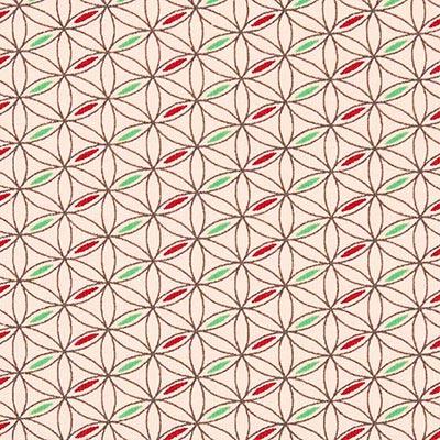 Tela de jersey de algodón Espirógrafo 2 – rosa
