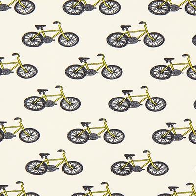 Tela de jersey de algodón Bicicleta 1, blanco lana