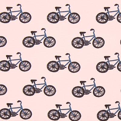 Tela de jersey de algodón Bicicleta 2 – rosa