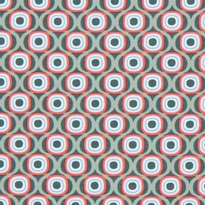 Katoenjersey Retro cirkels 2 – groen