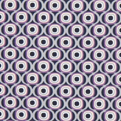 Katoenjersey Retro cirkels 3 – lila