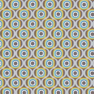 Katoenjersey Retro cirkels 4 – grijs