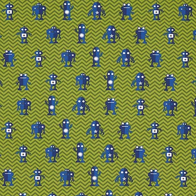 Katoenjersey robot 4 – groen
