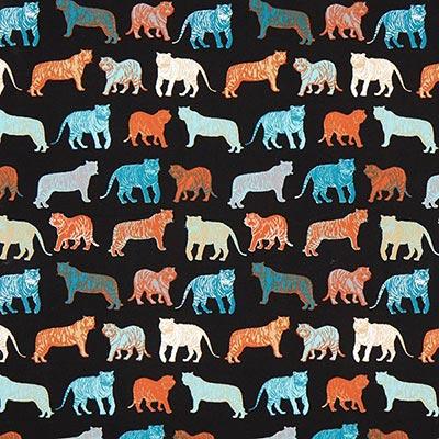 Katoenjersey tijger 2 – zwart