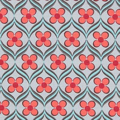 Tela de jersey de algodón Adorno floral 1 – gris