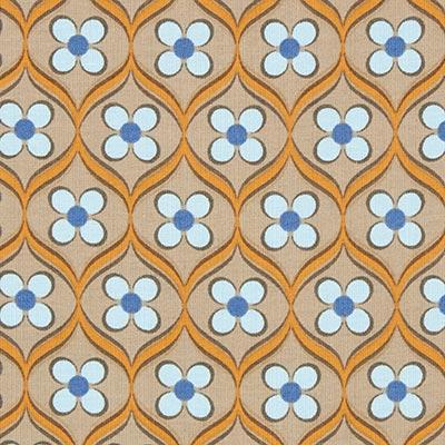 Tela de jersey de algodón Adorno floral 3 – marrón