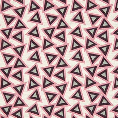 Tela de jersey de algodón Triángulos 2 – blanco