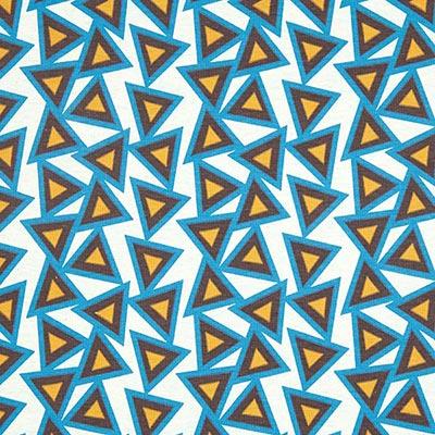 Katoenjersey driehoeken 3 – mintgroen
