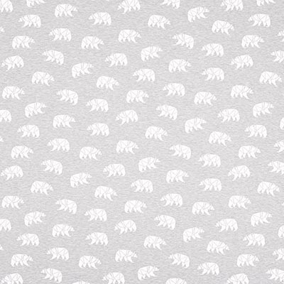 Polar Bear 2 Cotton Jersey – light grey