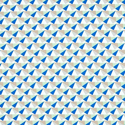Tela veraniega Triángulos 2 – azul claro