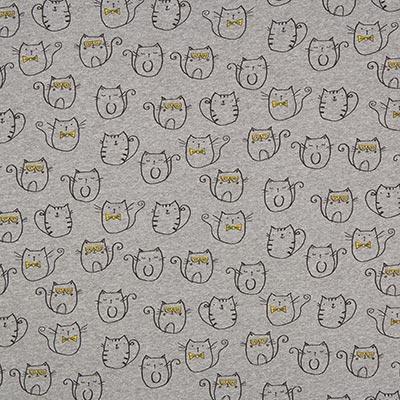 Zomersweat Coole katten 2 – donkergrijs