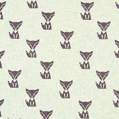 Glitter Fox Summer Sweatshirt Fabric 1, peppermint