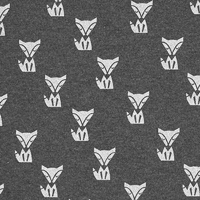 Sudadera de verano Zorros brillantes 5 gris oscuro