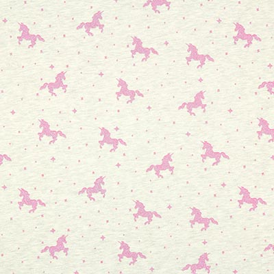 Glitter Unicorn Summer Sweatshirt Fabric 1, l.grey