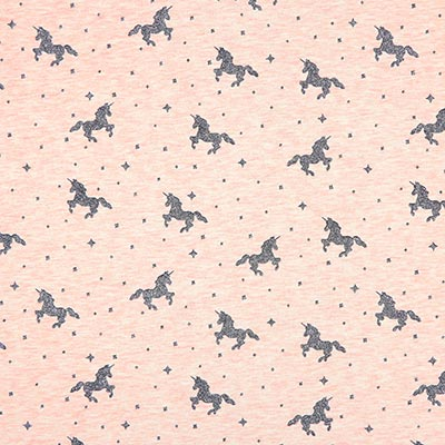 Glitter Unicorn Summer Sweatshirt Fabric 2 – pink