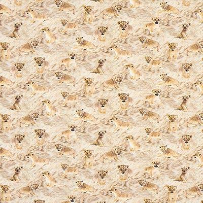 Jersey de algodón Bebés de león – beige