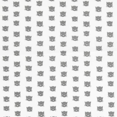 Cotton Fabric Little Cats – white