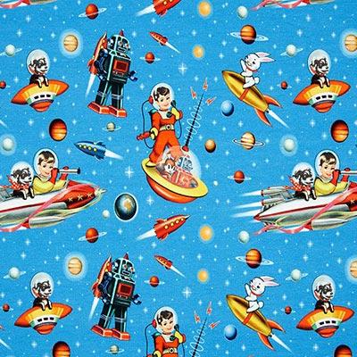 Zomersweat Space kids – blauw