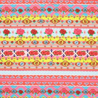 Katoenen stof Home Sweet Home – kleurenmix