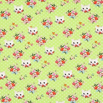 Katoenjersey kittens 2 – groen