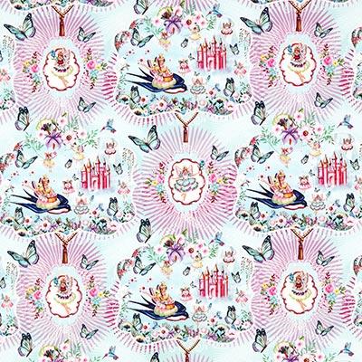 Katoenen stof Flower fairy 1 – kleurenmix