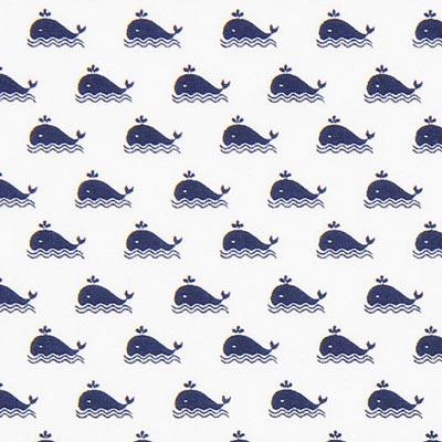 Cretonne Whale – white