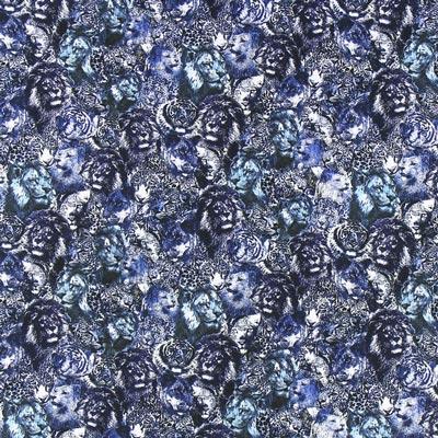Sweatshirt Leeuwen en tijgers – blauw