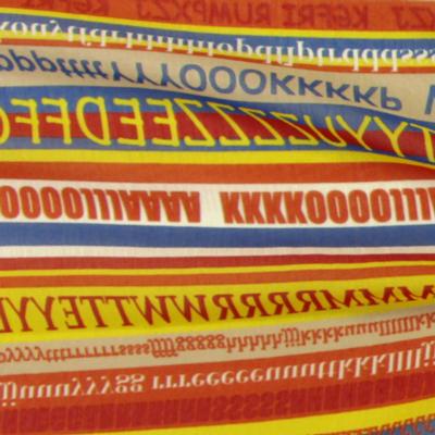 Chiffon Letter Stripes 2