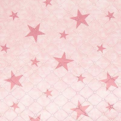 Teddy doorgestikte stof ster – oudroze