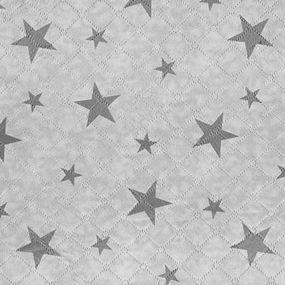 Teddy doorgestikte stof ster – grijs