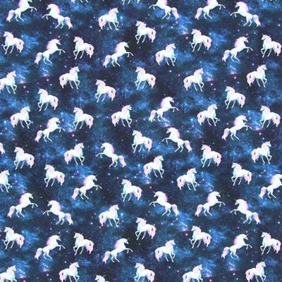 Baumwolljersey Digitaldruck Einhörner