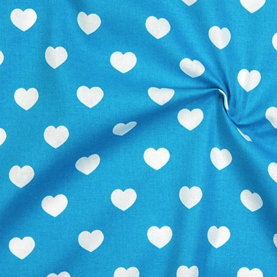 Cotton fabrics with hearts