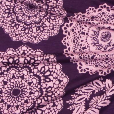 Tessuto jersey con decorazioni
