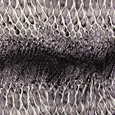 Tessuti jersey effetto pelle di serpente