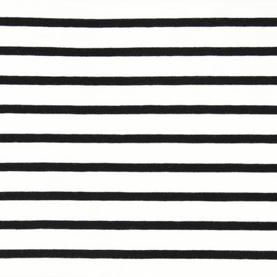 Jersey strepen – ecru/zwart