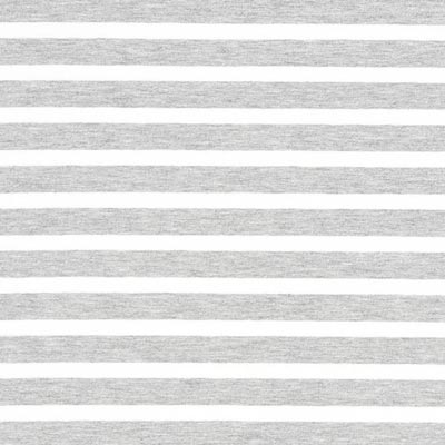 Striped French Terry – grey/white