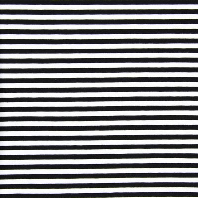 Narrow Striped Jersey – black/white
