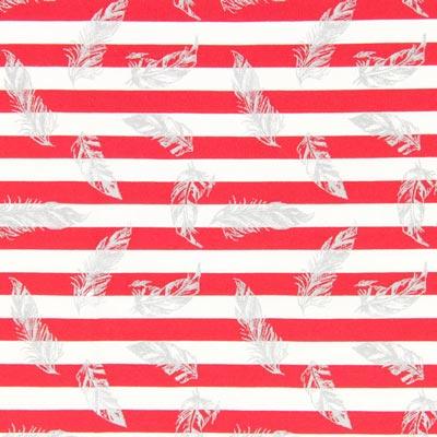 Jersey strepen en veren – rood/wit