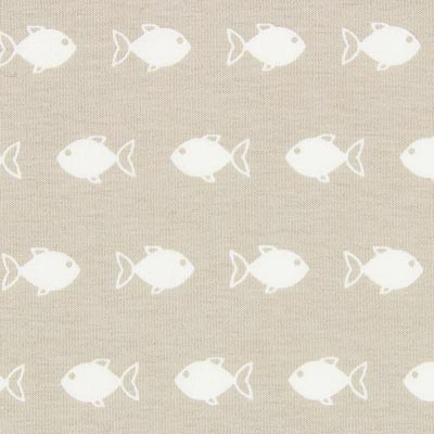 Katoenjersey Fish fun 3 – beige