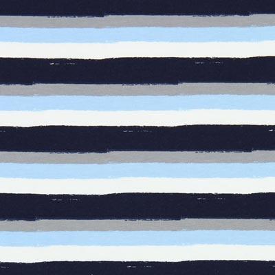 Jersey Warrige strepen – marineblauw