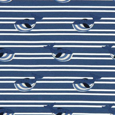 Jersey Dikke walvis – jeansblauw