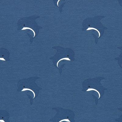 Jersey Zoete dolfijnen – jeansblauw