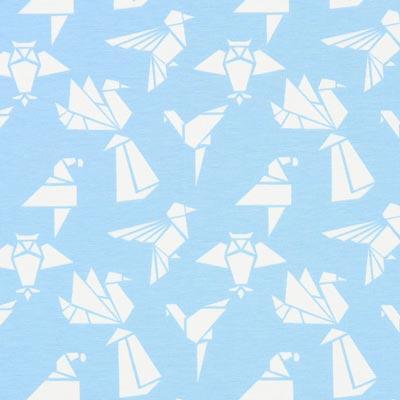 Jersey Origami vogels – lichtblauw