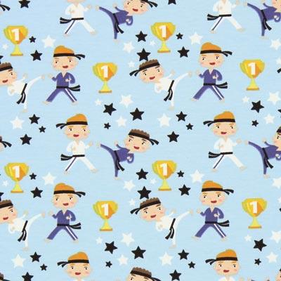 Jersey Karatemeester – lichtblauw