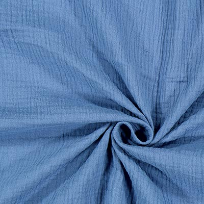 Muslin Plain 11 – denim blue